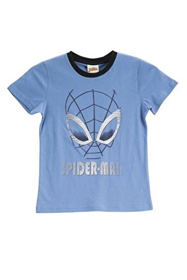 Spider-Man Spider Man Lisanslı Duman Mavisi Erkek Çocuk T-Shirt Mavi